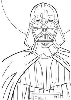 kleurplaat Star Wars - Darth Vader