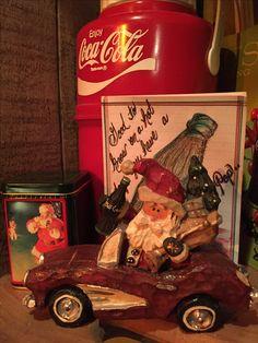 Kurt Adler Coca Cola Santa Claus in car