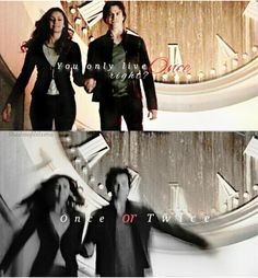 Can we just talk the fact that Elena is finally gonna get her memories back.. And #Delena Jumping Together #TVD