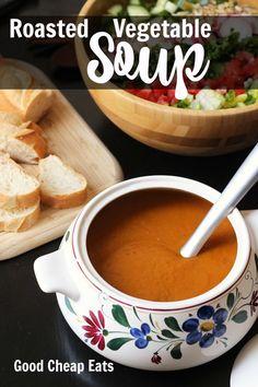 Roasted Vegetable Soup with Fresh Oregano   Good Cheap Eats