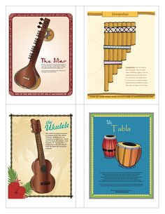 World Music Memory Matching Card Set Learn about musical instruments from all around the world by playing this fun memory matching card game. Instruments featured in this game are from Latin America, Music Activities, Activities For Kids, Latin America, South America, Map Skills, Hispanic Heritage, Matching Cards, Music For Kids, World Music