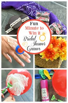 Bridal Shower Minute to Win it Games. Fun games to play at any bridal shower. wedding games Minute To Win It Bridal Shower Games Couples Wedding Shower Games, Bridal Shower Question Game, Bridal Shower Games Prizes, Couple Shower Games, Bridal Party Games, Printable Bridal Shower Games, Wedding Games, Hilarious Bridal Shower Games, Wedding Shower Prizes