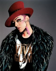 Boy George was there ever a more beautiful human face?
