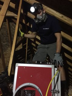 Black attic mold removal today. Don't let #blackmold give you the blues! Call us today. Www.madcleaningllc.com #avonlake #attic