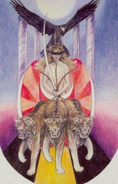The Via Tarot by John Bonner and Susan Jameson Susan Jameson, The Chariot Tarot, Hermetic Tarot, Sacred Art Tattoo, The Lovers Tarot, Esoteric Art, Tarot Major Arcana, Tattoo Outline, Tarot Card Meanings