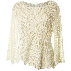 http://pinterest.com/barbszzz/  Cream hand crochet  Barbara Caudill