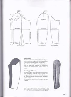 Arsip Album Coat Patterns, Clothing Patterns, Sewing Patterns, Tailoring Techniques, Sewing Techniques, Pattern Draping, Sewing Alterations, Modelista, Couture Sewing
