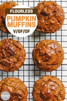 These Healthy Pumpkin Muffins are fluffy, moist and perfectly sweetened. Made with oatmeal, fresh pumpkin and lots of fall spices, they're naturally vegan, gluten free and oil free. The perfect breakfast or snack made in 1 bowl in under 30 minutes! Vegan Pumpkin, Healthy Pumpkin, Pumpkin Recipes, Gluten Free Breakfasts, Vegan Breakfast Recipes, Vegan Recipes, Vegan Breakfast Muffins, Gluten Free Baking, Vegan Gluten Free