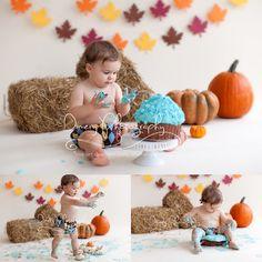cake smash, fall set cake smash, boys cakesmash ideas, natural light portrait studio © Dimery Photography 2014