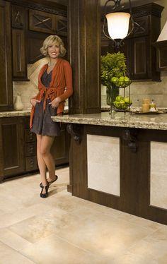 Ashley in the Granite and Travertine Kitchen