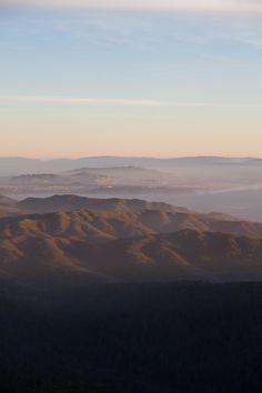 Sunset  facing the San Francisco atop Mount Tamalpais
