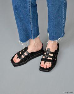 『個性款夾腳羅馬涼拖鞋』走秀款 涼鞋 英倫 歌德