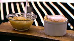 Æblesoufflé med æblekompot