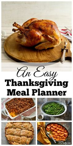 A Thanksgiving Menu Planner to Begin Today | 31Daily.com