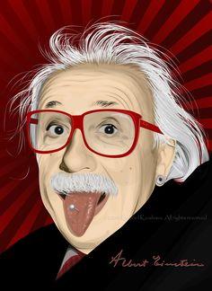 Albert Einstein via deviantart