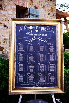 Chalkboard Wedding Table Assignments Board, Table Listings, Wedding Seating…