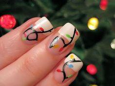 christmas lights nails   www.youtube.com/cutepolish