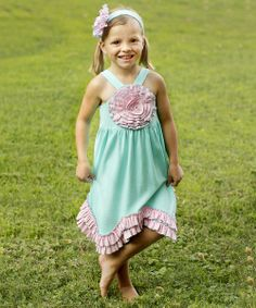 Take+a+look+at+the+Blue+&+Pink+Rosette+Dress+-+Toddler+&+Girls+on+#zulily+today!