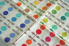 Japanese fabric pattern, dots, colours, colors, pattern, kid,  kids, children, room, decor, modern, interior, bright