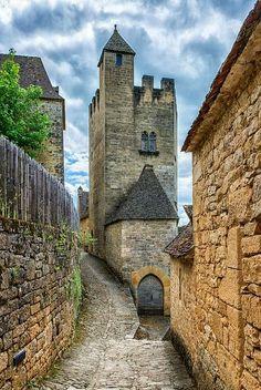A Narrow Road to Château de Beynac, France