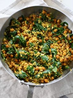 Curry Cauliflower Rice with Roasted Chickpeas