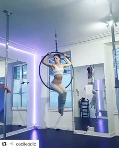 Love these moves by @cecileodic ! ❤️❤️ #aerialhooptricks