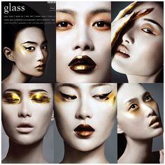 "Glass Magazine Autumn 2012   ""Trust In Dreams"";   Makeup: Alice Ghendrih   Website: www.alice-ghendrih.com Photographer: Bojana Tatarska   Model: Shu Pei   Hair: Yusuke Taniguchi"