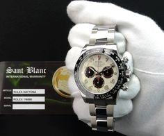 2017 ROLEX Stainless DAYTONA Panda Dial & CERAMIC Bezel 116500 SANT BLANC  | eBay