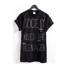 SOCIETY T-SHIRT (€27) ❤ liked on Polyvore featuring tops, t-shirts, shirts, tees, t shirts and shirts & tops