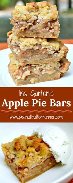 Ina's Apple Pie Bars – Easier Than Apple Pie! Desserts Ina's Apple Pie Bars - Easier Than Apple Pie Apple Pie Cookies, Apple Pie Bars, Bar Cookies, Apple Pie Muffins, Apple Pie Bread, Pumpkin Apple Pie, Carmel Apple Bars, Apple Torte, Blueberry Pie Bars