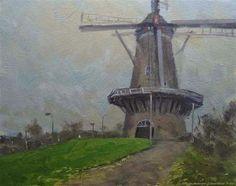 "Daily Paintworks - ""Walmolen Doetinchem, The Netherlands"" - Original Fine Art for Sale - © René PleinAir"