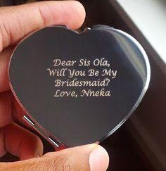 Bridesmaid proposal: engraved pocket mirror
