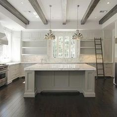 Gray Kitchen Island, Contemporary, kitchen