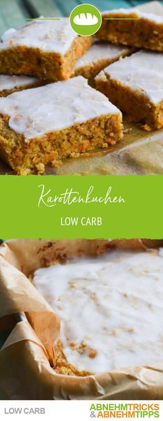 The best low carb carrot cake - quickly made and super .- Der beste Low Carb Rüblikuchen – schnell gemacht und super saftig Carrot cake with lime cake - Keto Snacks, Healthy Snacks, Low Carb Carrot Cake, Law Carb, Low Carb Recipes, Healthy Recipes, Lime Cake, Eating Plans, No Carb Diets