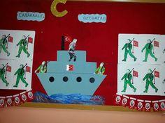Çanakkale Zaferimiz Art For Kids, Crafts For Kids, Art School, Art Education, Special Day, Holiday Decor, Bulletin Boards, Silk, Paper Board