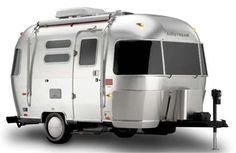 Retro Design Outside - Modern Amenities Inside! Airstream DWR Design Within Reach Travel Trailer exterior