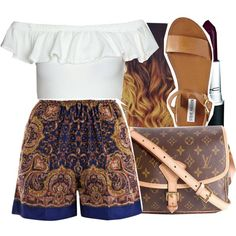 6/20/15 by xtaymaxlovesxmisfitx on Polyvore featuring polyvore fashion style Carven Steve Madden Louis Vuitton MAC Cosmetics