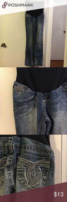 Wallflower maternity stretch denim jeans 5 pocket. Full panel Wallflower Jeans