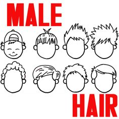 Learn how to draw cartoon boys' hair styles in several different ways. Cartoon hair isn't as hard to draw as you think it is. We will show you a few different styles to make things a bit easier for you.