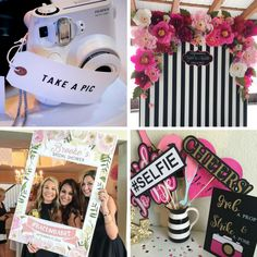 7 Hen Party Ideas you'll Love Hen Party Photo Booth Hen Night Ideas, Hens Night, Hen Ideas, Leaving Party, Hen Party Decorations, Goodbye Party, Hen Party Games, Bachelorette Party Themes, Party Photos