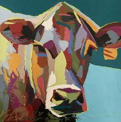 """Alex"" Cow Oil Painting by Kate Mullin Williford. www.katemullinart.com"