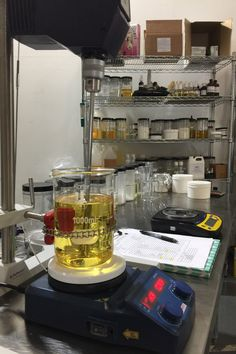 Lab area to develop one of a kind skincare formulas Chemistry Experiments, Chemistry Labs, Cosmetics Laboratory, Herbal Store, Space Phone Wallpaper, Medical Laboratory Science, Study Inspiration, Soap, Skin Care