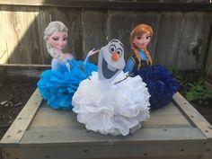 Elsa y Ana y Olaf Centerpiece congelada pieza central Elsa
