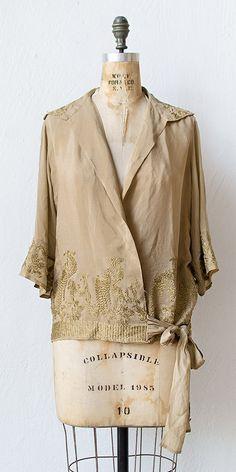 vintage 1920s silk blouse #vintage #1920s