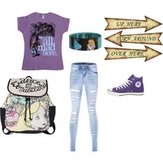 alice in wonderland, created by emmachalmers301 on Polyvore