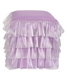 Look at this #zulilyfind! Lavender Ruffle Ottoman #zulilyfinds