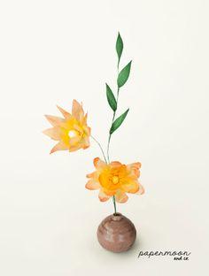 Centro Flores Amarillas Delic papel