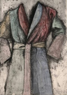 jim dine robe paintings | Jim Dine | Multicolored Robe (1977) | Artsy