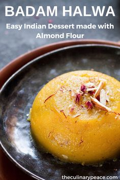 An easy Badam Halwa recipe using Almond flour, that can be made in less than 15 minutes. A no-fuss, beginner-friendly Indian sweet recipe to make at home. Easy Indian Dessert Recipes, Easy Indian Sweet Recipes, Indian Desserts, Indian Sweets, Sweets Recipes, Indian Food Recipes, Cooking Recipes, Meal Recipes, Ethnic Recipes