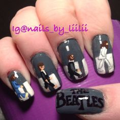 The Beatles Abby Road.. Done by Lisa Thomas. You can find more of my nail art on Instagram @nails_by_liilii